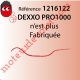 Dexxo Pro 1000 Rts 1ère Génération Remplacé par 1216270