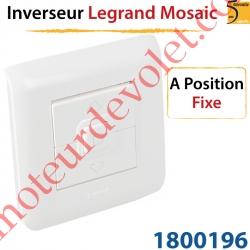 Inverseur Legrand Mosaïc 45 Blanc à Position Fixe