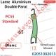 Lame Alu Double Paroi Injectée de Mousse Polyuréthane Pc55 de 55x13 Coloris Blanc Avec Ajourage