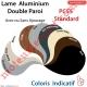 Lame Alu Double Paroi Injectée de Mousse Polyuréthane Pc55 de 55x13 Coloris Blanc Sans Ajourage