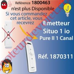 Emetteur Nomade Situo 1 Pure io 1 Canal 1 Voie remplacé par la réf. 1870311