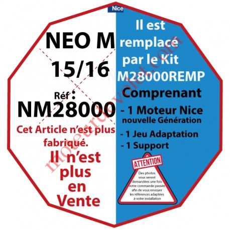 Moteur Nice Filaire Néo M 15/16 M 50, remplacé par NM28000REMP