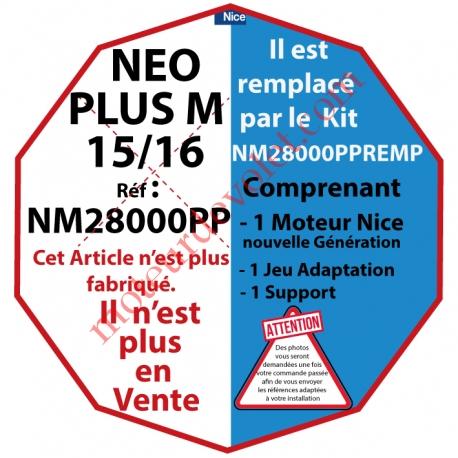 Moteur Nice Radio NéoPlus M 15/16 Radio