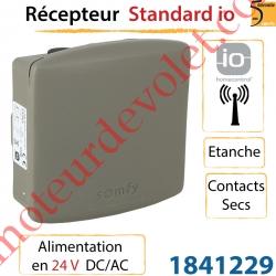 Récepteur Somfy io Etanche Sortie 2 Contacts Secs Alimenté en 24v Dc/Ac