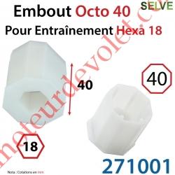 Embout Octo 40 pour Entraînement Hexagonal de 18 mm Femelle Longueur 40 mm