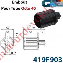 Embout Octo 40 Crabot Geiger Mâle Alésé ø12 mm