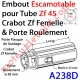 Embout Escamotable Zf 45 Crabot Zf Femelle Porte Roulement ø28 Pds Tab Max 25 kg