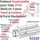 Embout Escamotable Zf 64 Porte Roulmt ø29 Alésé en X de 10 mm Femelle pr Tr à Ch