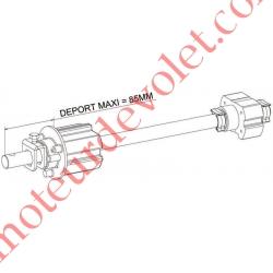 Tandem Zf 64 Axe Etiré ø 16 mm Mâle Réglable de 30 à 130 mm Poids Tab Max 100 kg
