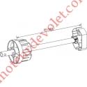 Tandem Polyvalent Zf 80 à Crabot Zf Femelle Axe ø 16 mm Mâle longueur 320 mm