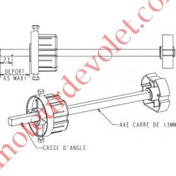 Tandem Zf 80 Axe Carré de 13 mm Mâle Réglable de 23 à 65 mm Poids Tab Max 180 kg