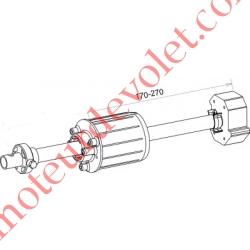 Tandem Deprat 62 Axe Longueur 320 mm ø 16 mm Mâle Réglable de 38 à 138 mm
