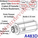 Embout Escamotable Octo 60 Crabot Zf Femelle Porte Roulement ø28 Pds Tab Max 25