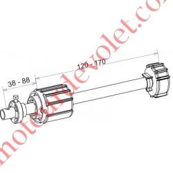 Tandem Zf 54 Axe ø 16 mm Mâle Réglable de 38 à 88 mm