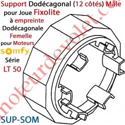 Support Dodécagonal pour Moteur Somfy LT 50 dans Coffre Fixolite