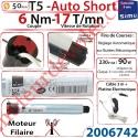 Moteur Filaire Electronique T5 Auto Short 6/17 Réglage Automatique des FdC sans Mds