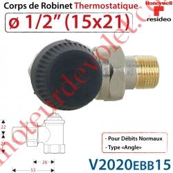 """Corps de Robinet Thermostatique en Equerre 1/2"""" M30 x 1,5"""