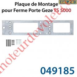 Plaque de Montage pour Ferme Porte Gézé TS5000 Coloris EV1 Laqué Argent