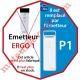 Emetteur Ergo 1 Nomade 3 Fonctions 1 Canal 433,92MHz Rolling Code + Supp Berceau, remplacé par l'émetteur P1