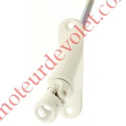 Double Cardan Etroit 22,5 x 86 mm ø 12 Femelle Hexa7 Mâle Lg 585 mm Zamac Laqué Blanc