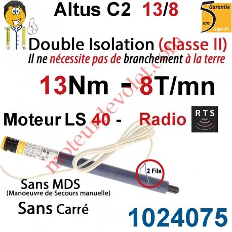 Moteur Altus C2 13/8 Rts Sans Carré LS 40 sans Mds Double Isolation Classe II