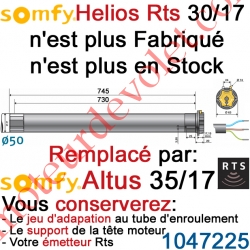 Moteur Helios 30/17 Rts ou Rts2 LT 50 sans Mds