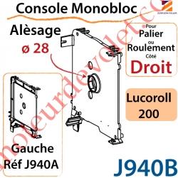 Console Monobloc Alésage ø 28 pour Palier ou Roulement Côté Droit pour Lucoroll 200