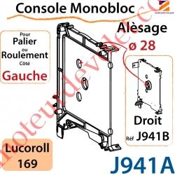 Console Monobloc Alésage ø 28 pour Palier ou Roulement Côté Gauche pour Lucoroll 169