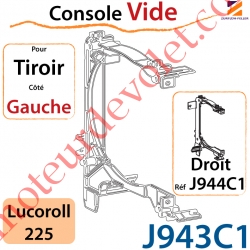 Console Vide pour Tiroir Côté Gauche pour Lucoroll 225