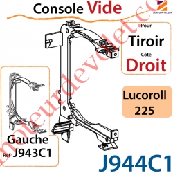 Console Vide pour Tiroir Côté Droit pour Lucoroll 225