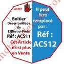 Boîtier de Déverrouillage de l'Electro-Frein en Saillie de 35 mm Sans Inverseur