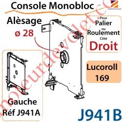 Console Monobloc Alésage ø 28 pour Palier ou Roulement Côté Droit pour Lucoroll 169