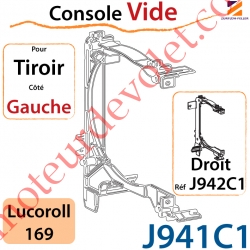 Console Vide pour Tiroir Côté Gauche pour Lucoroll 169