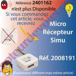 Micro Récepteur Rts pour Volet Roulant ip20, remplacé par la réf 2008191