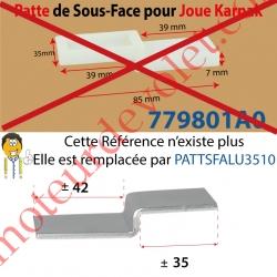 Patte de 85 x 35 mm pour Sous-Face de Joue Karnak, remplacée par patte alu Réf : PATTSFALU3510
