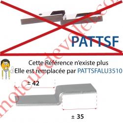 Patte Pvc en Z à Fixer dans Joue Coffre Linteau pour Fixer la Sous-Face,remplacée par la REF PATTSFALU3510