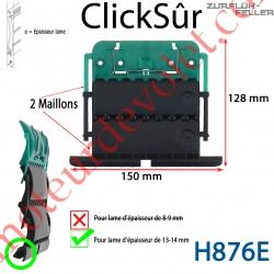 Verrou Automatique Clicksûr de 2 Maillons + Fil pour Lame 13-14 mm d'épaisseur