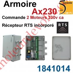Armoire Ax230 pour Commander 2 moteurs 230 vca Récepteur Rts Incorporé