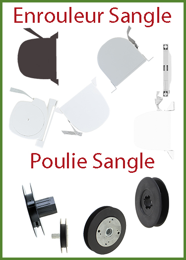 Enrouleur sangle, Poulie sangle